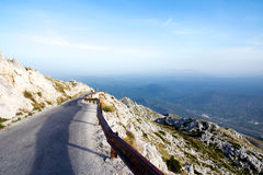 Road to sv. Jure peak in Biokovo mountains. Winding road to sv. Jure peak in Biokovo mountains, Makarska, Croatia Stock Image