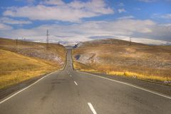 The road to Syunik, Armenia. Syunik is the southernmost province of Armenia. It is bordered by the Vayots Dzor Province from the north, Azerbaijan`s Nakhchivan royalty free stock photography