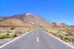 Road to Teide. Volcano in Tenerife. Spain Stock Photos