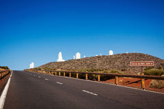 The road to The Teide Observatory Stock Photo