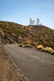 The road to The Teide Observatory Royalty Free Stock Image