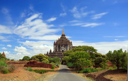 Road to the temple of bagan,myanmar Royalty Free Stock Photography