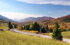 Road to Terchova village, Slovakia Royalty Free Stock Photography