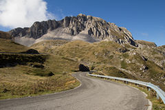 Road to the Terminillo mountain Royalty Free Stock Photo