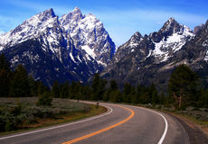 Road To The Teton's 2 Royalty Free Stock Photos