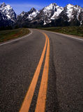 Road To The Teton's Royalty Free Stock Photography