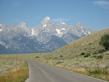 Road to the Tetons stock photography