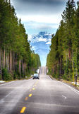 Road to the Tetons National Park Stock Image