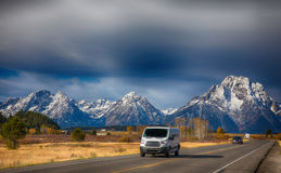 Road to the Tetons National Park Royalty Free Stock Photo