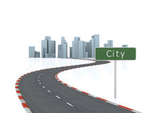 Free Road To The Simulated City Stock Photo - 13483370
