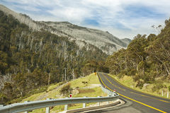 Road to Thredbo Kosciuszko National Park Royalty Free Stock Images