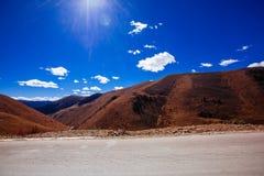 Road To Tibetan Mountain Stock Photography