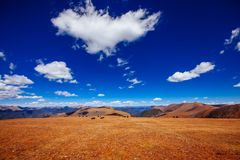 Road To Tibetan Mountain Stock Image