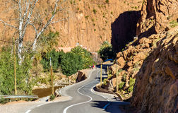 Road to Todgha Gorge, a canyon in the Atlas Mountains. Morocco Royalty Free Stock Photos