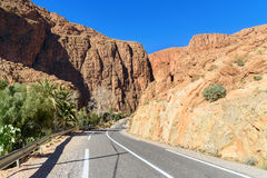 Road to Todgha Gorge in Morocco Royalty Free Stock Photography
