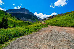 Road to the Top of the Mountain Royalty Free Stock Image