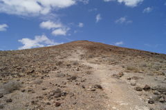 Road to the top of a volcano Stock Image