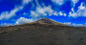 Road to the top of the volcano Stock Photos