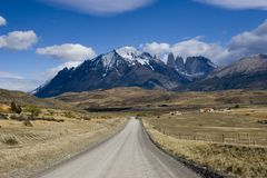 Road to Torres del Paine Royalty Free Stock Photo