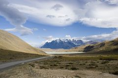 Road to torres del paine Royalty Free Stock Photography