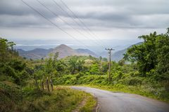 Road to Trinidad, Cuba royalty free stock photos