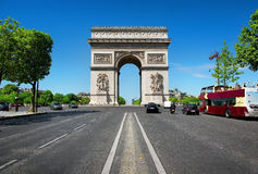 Road to Triumphal Arch Royalty Free Stock Images