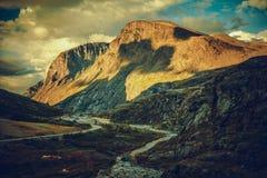 Road to Trollstigen Norway stock photo