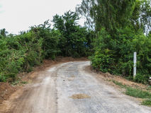 Road. To the tropical forest Royalty Free Stock Photos
