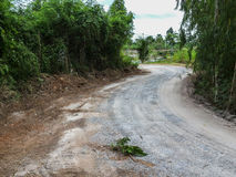 Road. To the tropical forest Stock Photography
