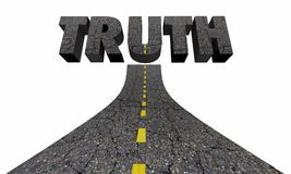 Road to Truth Word Find Real Answers Facts. 3d Illustration Stock Photography