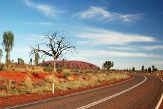 Road to Uluru royalty free stock images