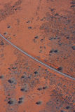 Road to Uluru (Ayers Rock) Stock Images