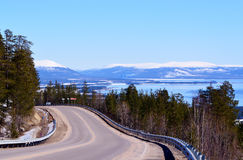 The road to Umba.April. The road to Umba.Spring.April.Landscape Royalty Free Stock Photo