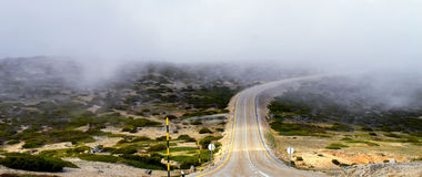 Road to the unknown mist Royalty Free Stock Images