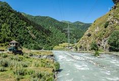 Road to Ushguli Stock Images
