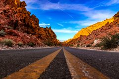 Road to the Valley of Fire. Arizona stock photos