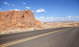 Road to the Valley of Fire in Nevada, USA Stock Photo