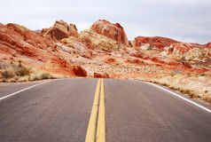 Road to Valley Of Fire Park Stock Image