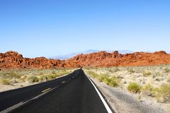 Road to valley of fire Royalty Free Stock Image