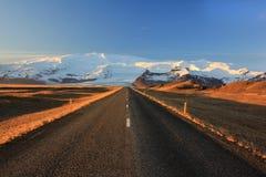 The road to Vatnaj Stock Photos