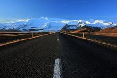The road to Vatnaj Stock Image