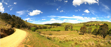 Road to Victoria falls in Australia Stock Image