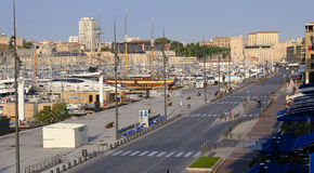Road to Vieux Port, Marseille Royalty Free Stock Photography