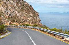 Road to viewpoint at Steenbras Dam pump station Stock Image