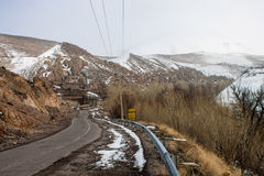 Road to the village Kandovan Royalty Free Stock Images