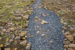 Road to the volcanic mountains of Icelandю Stock Photography