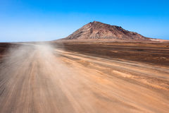 Road to volcano on Cape Verde Royalty Free Stock Image