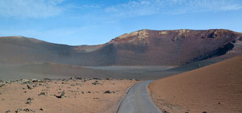 Road to volcano crater Royalty Free Stock Photography