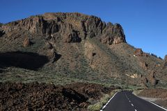 Road to volcano El Teide Royalty Free Stock Photos
