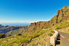 Road to volcano El Teide Royalty Free Stock Images